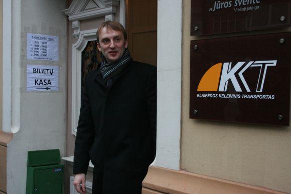 Direktorius Gintaras Neniškis džiaugiasi naujomis, erdvesnėmis patalpomis.