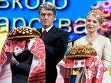"""AFP/""""Scanpix"""" nuotr./Viktoras Juščenka ir Julija Tymošenko"""