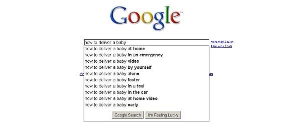 """""""Google"""" gali duoti išsamių pavyzdžių, kaip vyksta gimstančio kūdikio priėmimas."""
