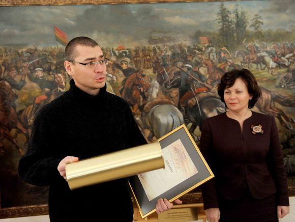 """""""Metų plunksnos 2009"""" apdovanojimų ir """"Kariško bato"""" nominacijos įteikimo ceremonija"""