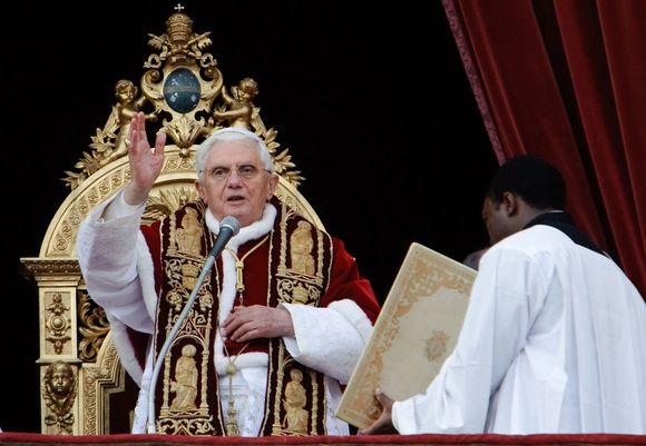 Popiežius kreipėsi su kalėdiniu sveikinimu