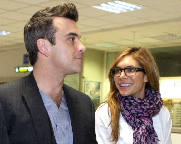 Ayda Field ir Robbie Williamsas