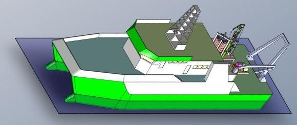 KU nuotr./KU planuoja statyti katamarano tipo, 40 metrų laivą.