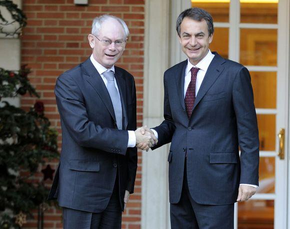 H.van Rompuy ir J.Zapatero tikisi, kad jiems pavyks gerai sutarti.