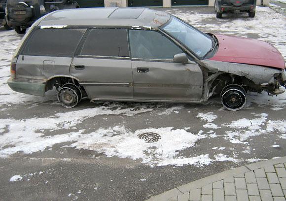 Nuo pasieniečių sprukęs automobilis