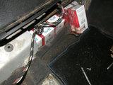 Tauragės policijos nuotr./Cigaretės automobilyje įrengtoje slėptuvėje