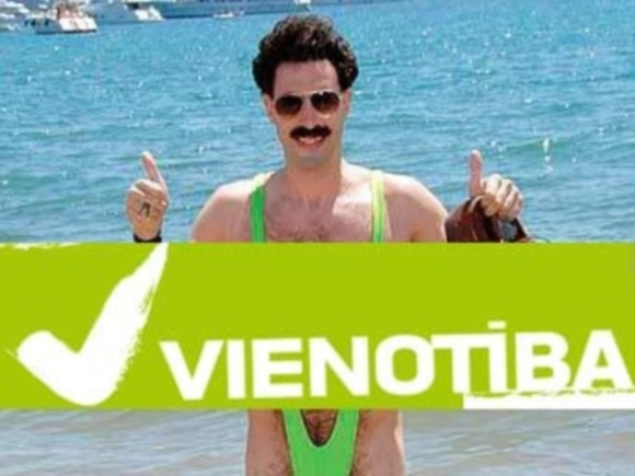 Partijos simbolika primena Boratą...