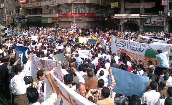 Musulmonų protestuotojai Egipte