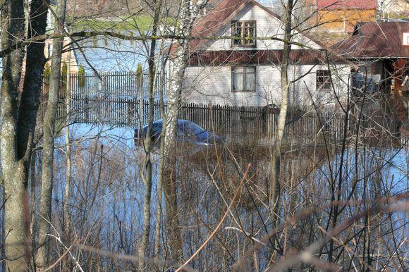 """Potvynis Mažeikių rajone: apsemta sodų bendrija """"Linelis"""""""