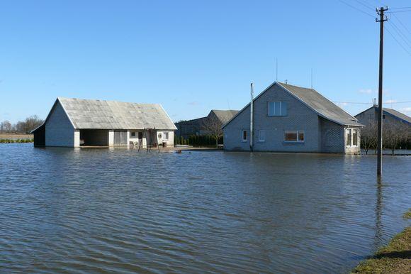 Potvynis Mažeikių rajone: apsemtas Žiogaičių kaimas