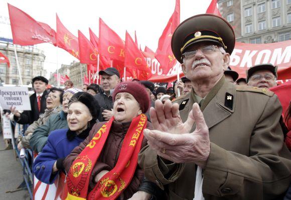 Komunistų demonstracija Maskvoje