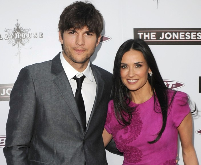 Ashtonas Kutcheris ir Demi Moore 2010-aisiais