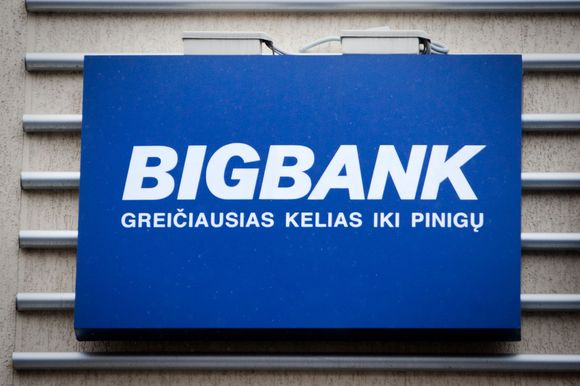 """""""Bigbank"""" iškaba"""
