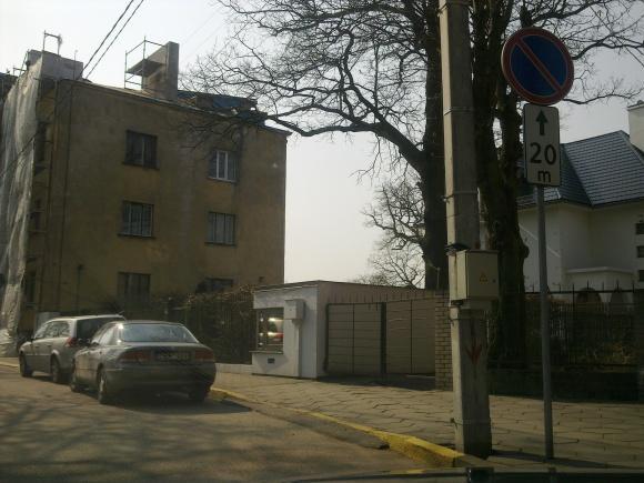 15min.lt skaitytojo nuotr./Draudžiama zona Vaižganto gatvėje Kaune
