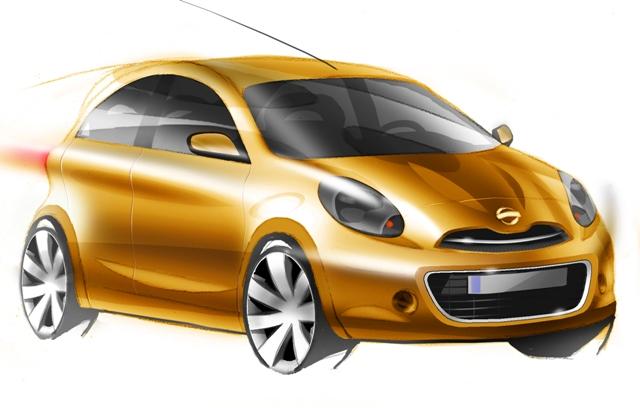"""""""Nissan"""" pristatė kompaktiško automobilio eskizus"""