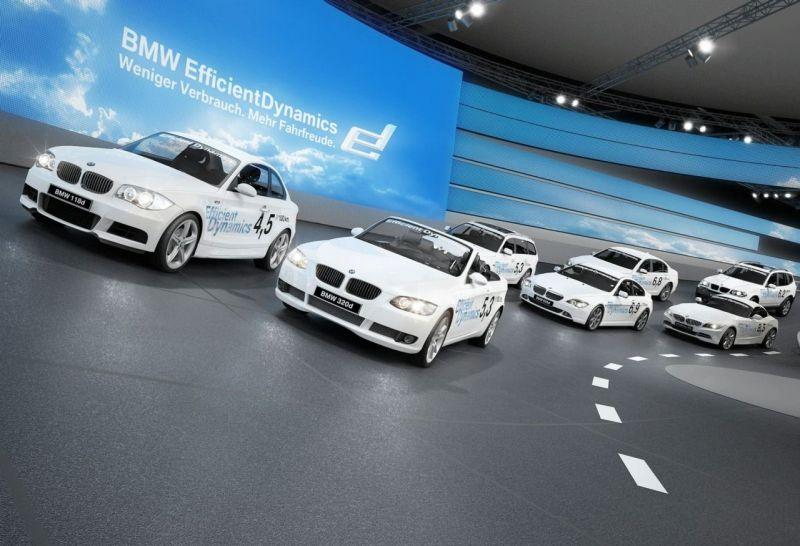 BMW parodos stendas virs lenktynių žiedu