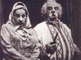 Bekampienė ir piršlys – aktoriai R.Varnaitė ir jos vyras V.Eidukaitis. Asmeninio archyvo nuotr.