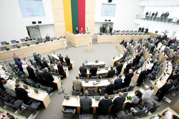 Pirmasis Seimo rudens sesijos plenarinis posėdis