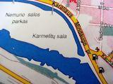 kun.R.Šumbrauskio nuotr./VIename iš kun. R.Šumbrauskio rastų žemėlapių Nemuno sala pažymėta kaip Karmelitų sala