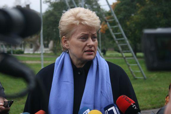 Prezidentė pabrėžė Baltijos šalių gynybos planų svarbą.