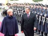 Irmanto Gelūno/15min.lt nuotr./Ukrainos prezidento V.Janukovyčiaus vizitas Lietuvoje