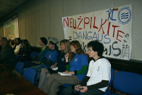 G.Kubiliūtės nuotr./Proteste dalyvavo ir jaunimo organizacijos.