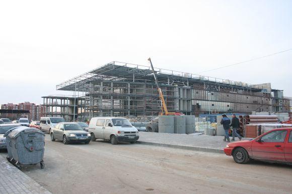 A.Kripaitės/15min.lt nuotr./Skaičiuojama, kad jau užbaigta apie pusę Klaipėdos arenos statybos darbų.