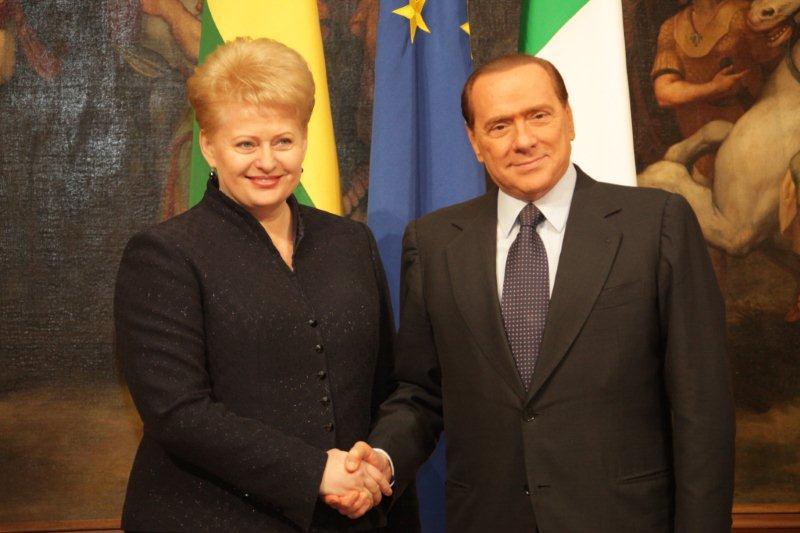 Dalia Grybauskaitė ir Silvio Berlusconi
