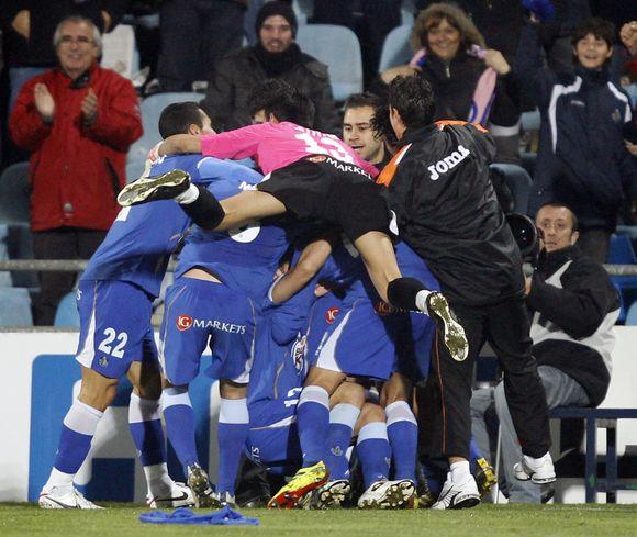 """""""Getafe"""" futbolininkai triumfuoja po pergalės prieš """"Villarreal""""."""