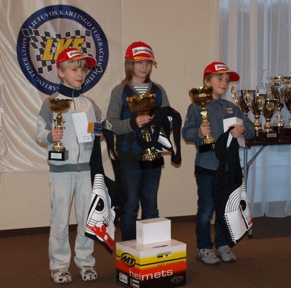 Sezono laureatai (iš kairės) – K.Vaškelis (3 vieta), M.Bukinas (1 vieta) ir G.Grinbergas (2 vieta).