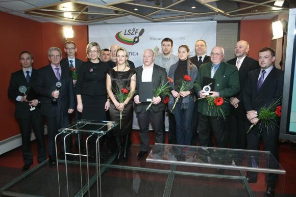 Lietuvos sporto žurnalistų federacijos išrinktų laureatų apdovanojimas