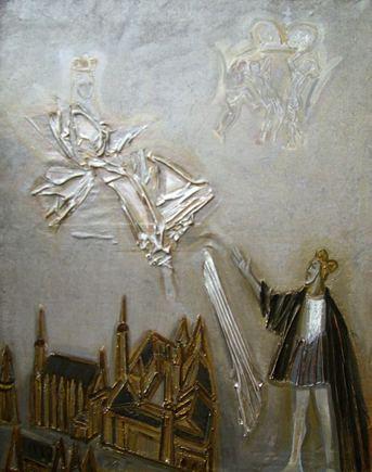 Pylimo galerijos nuotr./Aloyzas Stasiulevičius. Barbora Radvilaitė ir Žygimantas Augustas. 2004 m.