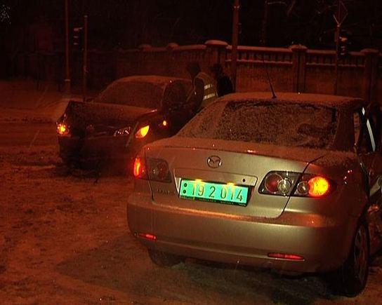 LNK žinių stop kadras/Rusų diplomato sukelta avarija