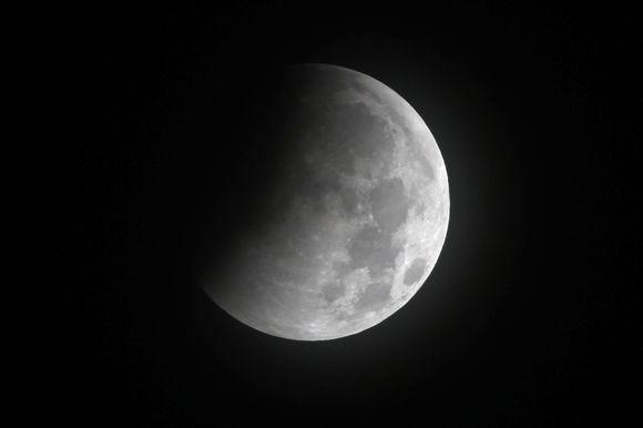 Mėnulio užtemimo akimirka