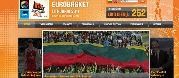 Startavo Europos krepšinio čempionato oficiali svetainė