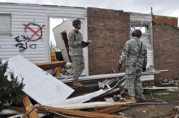 Tornado Misūryje padariniai