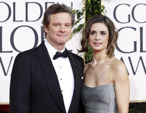"""""""Reuters""""/""""Scanpix"""" nuotr./Aktorius Colinas Firthas su žmona"""