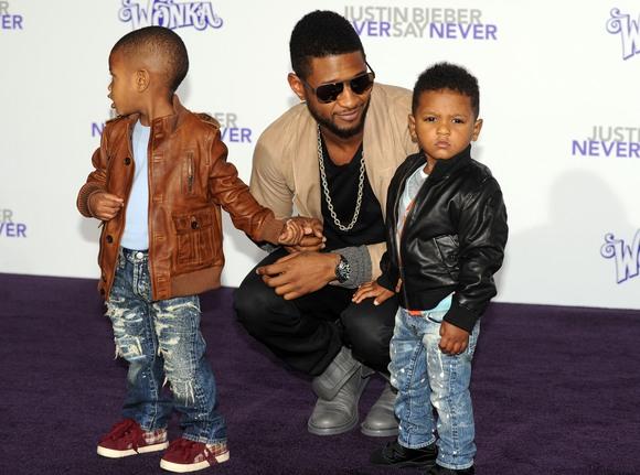 Usheris su savo vaikais