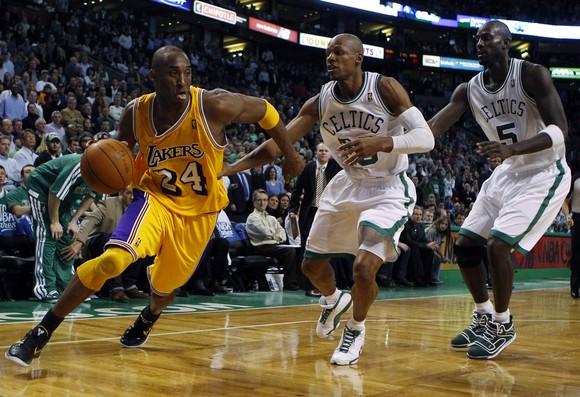 Kobe Bryant , Ray Allenas ir Kevinas Garnettas