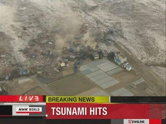 Cunamio banga šluoja Kamaišio miestą.