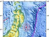 AFP/Scanpix nuotr./Žemės drebėjimo epicentras užfiksuotas netoli rytinės Japonijos pakrantės.