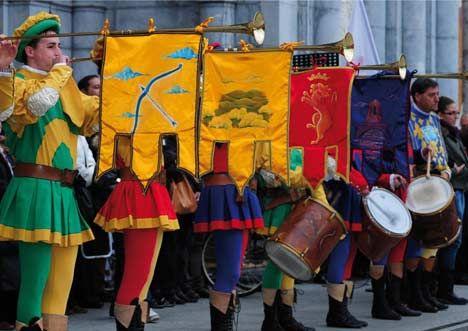 Organizatorių nuotr./Italų vėliavininkai