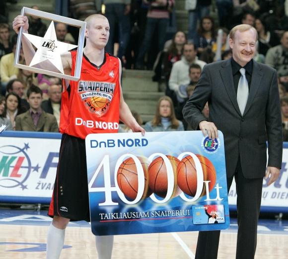 """Gytis Sirutavičius triumfavo 2007 metų LKL """"Snaiperio"""" konkurse."""