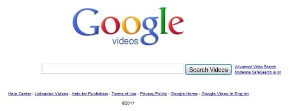 """""""Google Videos"""" paieška"""