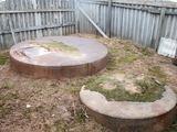 vilkmerge.lt nuotr./Punkto teritorijoje aptikti du į žemę įkasti metaliniai konteineriai.