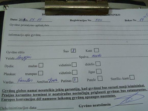 LGGD nuotr./Granto atidavimo aktas