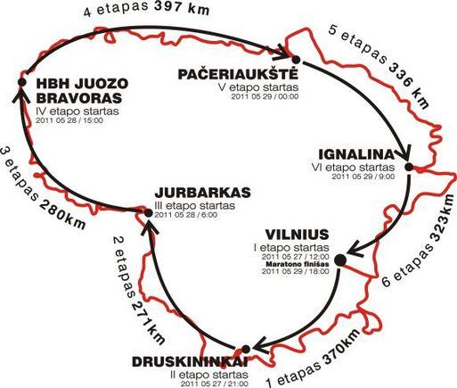 4x4 Perimetro maratono trasa