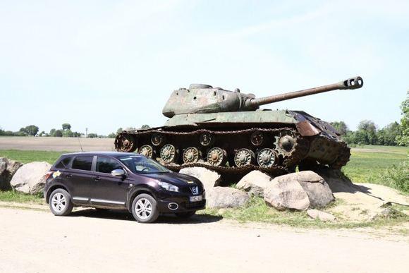 Tomo Digaičio/GAZAS.LT nuotr./Orvydų sodyboje radome tanką