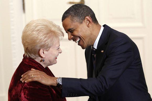 Dalia Grybauskaitė ir Barackas Obama