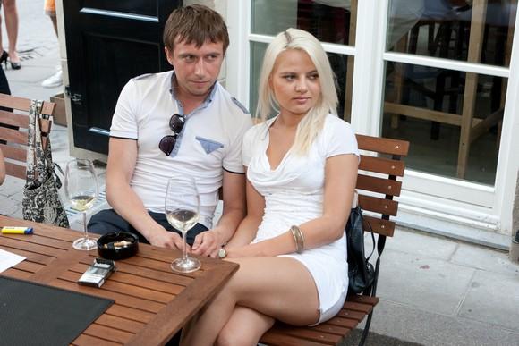 Marius Jampolskis su drauge